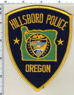 Hillsboro Police (Oregon) Shoulder Patch - new from 1989 • $24.95 - PicClick