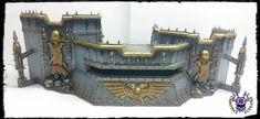 Wall of Martyrs - Firestorm Redoubt #ChaoticColors #commissionpainting #paintingcommission #painting #miniatures #paintingminiatures #wargaming #Miniaturepainting #Tabletopgames #Wargaming #Scalemodel #Miniatures #art #creative #photooftheday #hobby #paintingwarhammer #Warhammerpainting #warhammer #wh #gamesworkshop #gw #Warhammer40k #Warhammer40000 #Wh40k #40K #terrain #scenery #Scifi #WallofMartyrs #FirestormRedoubt 40k Terrain, Warhammer 40000, Tabletop Games, Space Marine, Gw, Board Ideas, Scenery, Sci Fi, Miniatures