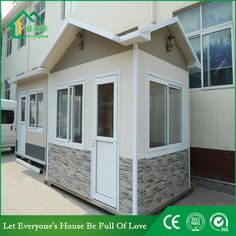 security guard house WhatsApp: +8618620106756 Steel Structure Buildings, Guard House, Portable Toilet, Security Guard, Prefab Homes, Recycling, Shed, Construction, Outdoor Structures
