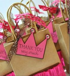 #Princess brithday party favours ! #pink #crown #royal #littlecharmers