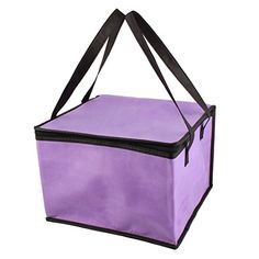 uxcell Picnic Travel Square Food Drink Milk Fruit Holder Warm Cooler Storage Tote Bag Purple. For product & price info go to:  https://all4hiking.com/products/uxcell-picnic-travel-square-food-drink-milk-fruit-holder-warm-cooler-storage-tote-bag-purple/