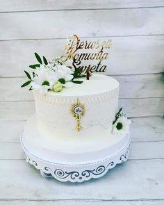 Communion Cakes, First Communion, Holi, Birthday Cake, Baking, Decorating Cakes, Pastries, Food Cakes, Jacket