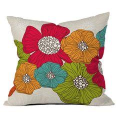 Valentina Ramos Flowers Throw Pillow