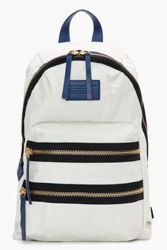 MARC BY MARC JACOBS Ivory white Domo Arigato Packrat Backpack