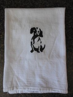 The Toffee Tea Towel - Hand-painted dish towel using a hand-cut stencil.