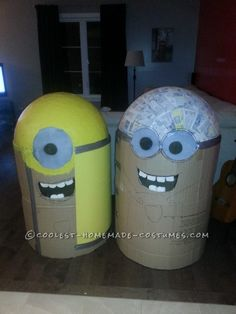 Coolest Homemade Despicable Me Minions Costume...