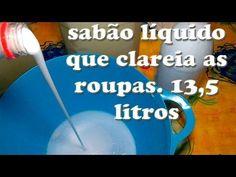 SABÃO LÍQUIDO  QUE CLAREIA E TIRA MANCHA RENDE 13,5 LITROS - YouTube