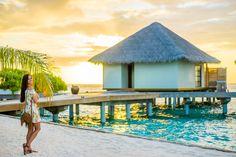 Tropical Dress vestido flores hombros al aire off shoulder dress Maldivas Velassaru Island Maldives Crimenes de la Moda