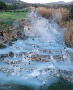 A hot spring in Saturnia, Toscana, Italy