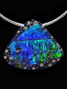 Image Detail for - DREAMTIME - Opal Pendants: Black Opal, Boulder Opal