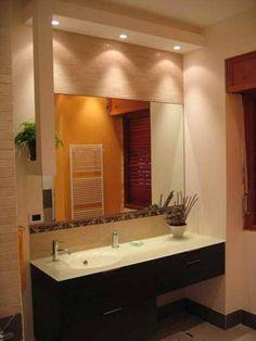 recessed lighting bathroom vanity