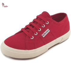 Superga 2750 Junior Cotu Classic, Baskets mode mixte enfant, rouge (red), 31 EU / 12.5 UK Y - Chaussures superga (*Partner-Link)