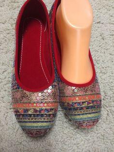 Womens Ballet Flats Slipper Handmade Summer flip Flop by Artsiart, $27.99