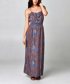 eb51c56bb1 Another great find on  zulily! Light Gray Swirl Maxi Dress by Christine V