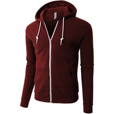 LE3NO PREMIUM Mens Lightweight Soft Fleece Full Zip Up Hoodie Jacket ($28) ❤ liked on Polyvore featuring men's fashion, men's clothing, men's hoodies, mens hoodies, mens fleece hoodie, mens hoodie, mens hooded sweatshirts and mens full zip hoodies