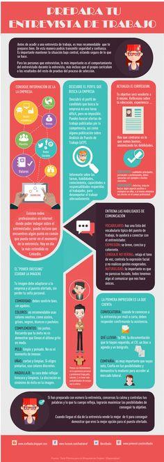 Cómo preparar tu entrevista de #trabajo #infografía