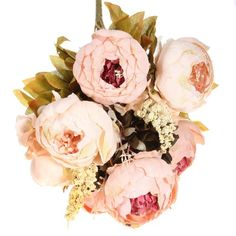 KINGSO 1 Bouquets Artificial Peony Silk Flowers Home wedding Decoration