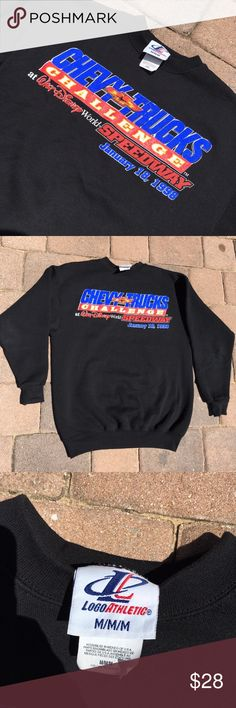 Men's Walt Disney world NASCAR sweatshirt Amazing hard to find piece from the now demolished Walt Disney world speedway in Orlando, Florida. Crewneck Sweatshirt commemorates the NASCAR camping world truck series race held at the track in 1998. This vintage pullover piece is in NWOT fantastic condition. Perfect for any race fan out there. No cracking or fading!! 10/10 chevy trucks challenge.                 Here is a full video of the race!- https://youtu.be/PC5s_6mqess Disney Sweaters…