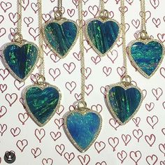 We just couldn't decide so we bought them all! The hit of the season is @jenmeyerjewelry's Opal Heart! . . #opals #hearts #diamonds #jennifermeyer #pendants #statementnecklace #hollywood #madeincalifornia #hotjewelry #summerjewelry