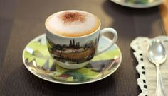Hot Cappuccino served in our TUSCANY Cup!