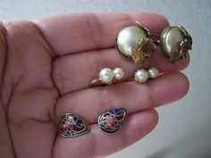antique earring lot from granys jewelry box by goodfindsfrommiami, $12.00