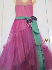 Bergdorf Goodman 20s Flapper Dress Edwardian Style Vintage Millinery Flower Sash