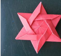 "images of oragami | Photo of Star of David Red Origami is courtesy of ""georigami"". model ..."