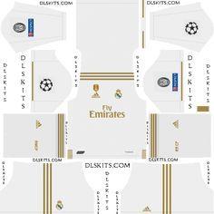 Real Madrid 2019 2020 Dream League Soccer Kits Logos Real Madrid Home Kit Real Madrid Kit Real Madrid Goalkeeper