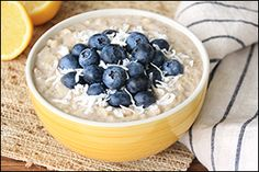 Healthy Growing Oatmeal Recipes: Black Forest Oatmeal, Lemon Coconut Blueberry Oatmeal | Hungry Girl