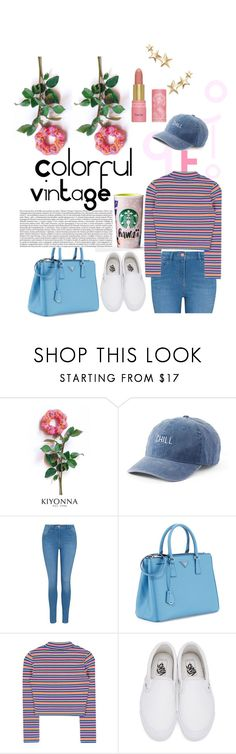 """Untitled #347"" by wemakefashion ❤ liked on Polyvore featuring Kiyonna, SO, George, Prada, Vans and Kenneth Jay Lane"