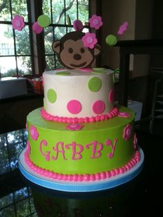 This was for a sweet baby girls first birthday. My friend sent me a picture of another cake that was similar to this one. This is a lemon cake with white chocolate SMBC and fondant accents.