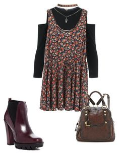 """""""Riley Matthews Inspired Look"""" by ellaphants ❤ liked on Polyvore featuring Charles David, Wet Seal and Frye"""