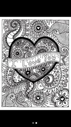 love: hand gezeichnet st. valentinstag künstlerisch ornamental gemusterte herzen mit liebe in