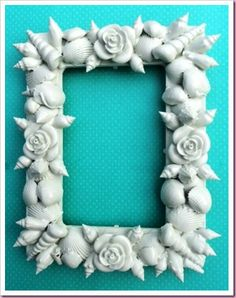 DIY photo frame - objects & painted white