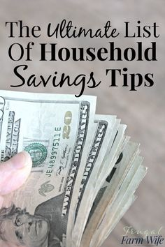 The ultimate list of money-saving tips for your whole household. This is a huge frugal living resource! Living On A Budget, Frugal Living Tips, Frugal Tips, Save Money On Groceries, Ways To Save Money, Groceries Budget, Best Money Saving Tips, Saving Money, Money Tips
