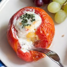 Baked Eggs in Tomatoes - A Savory Simple Breakfast
