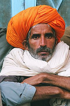 Orange Turban - Pushkar, Rajasthan