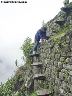 Picchu/Wayna Picchu, Peru  Adventurers paradise, Machu Picchu is in Peru. Hikers chose the Inca trail to hike the Machu Picchu. The mountain is full of dangerous treks and pathways. Stairs so old and damaged that it becomes really hard to hike.