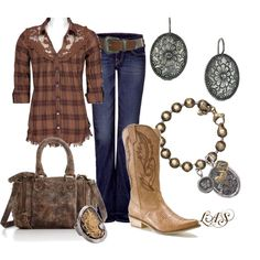 Like this for the Rodeo - Untitled #427, created by snippins on Polyvore