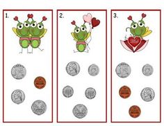 Counting Money Solve word problems involving dollar bills, quarters, dimes, nickels, and pennies--Valentine's math center for second grade Money Activities, Fun Classroom Activities, Fun Math, Math Resources, Classroom Ideas, Math 2, Money Games, Classroom Freebies, Classroom Crafts