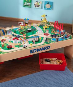 Waterfall Train Personalized Table Set by KidKraft on #zulily & Thomas train table track design | Learninggirls | Pinterest | Thomas ...