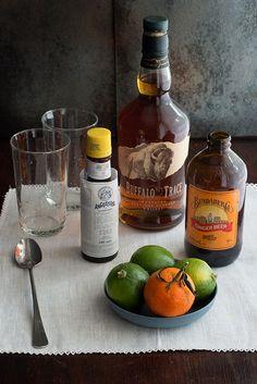 behind the bar: pharmacie's the lutheran (bourbon, ginger beer, bitters, lime) via Design*Sponge