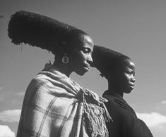 """Conical headdresses made """"of mud and plaited hair that they [the Zulu women] wore for a lifetime."""" Sparrow, p. 206"""