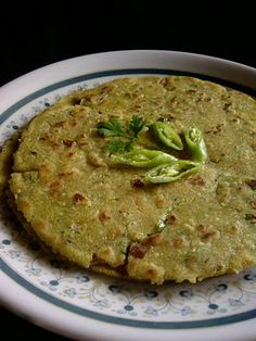 Indian Cuisine: Masala Jonna Rotte ~ Spicy Sorghum Roti