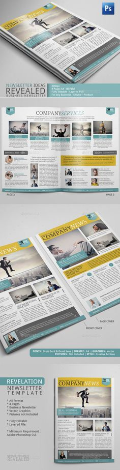 Business Newsletter Template Discover more ideas about - company newsletter template free