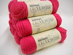 Bernat Cotton Yarn, 3 skeins,  Gloucester Discontinued Yarn, Wineberry, Knitting Supplies, Crafts, Crochet, Cotton Yarn