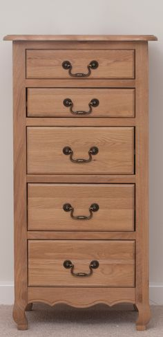 Grace Solid Oak Furniture Range Bedroom | Oak Tall Chest Drawers Oak Furniture Land www.oakfurnitureland.co.uk