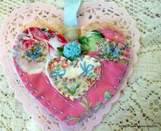 one of a kind animation hearts | One Of A Kind Embroidered Heart Ornament Applique | Crafts