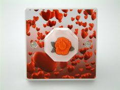 English Rose Love Hearts Light Switch or Dimmer Switch
