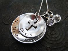 Stamped Jewelry Family Necklace Mothers by AnotherDayBoutique